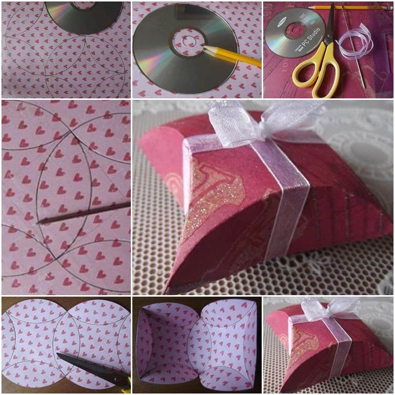 How To DIY Easy Fold Paper Gift Box with CD