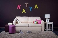 DIY Easy Fabric and Cardboard Letter Wall Art