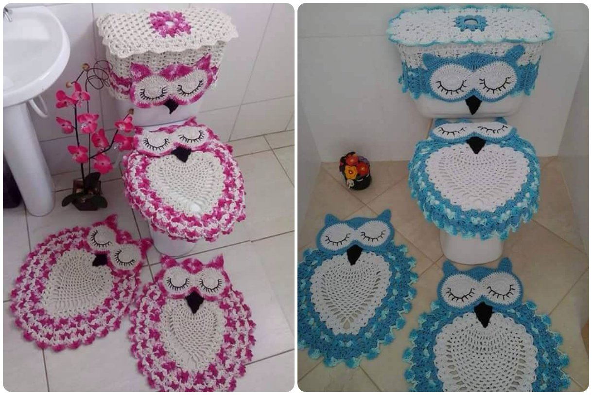 Owl Bathroom Crochet Owl Bathroom Set With Free Pattern