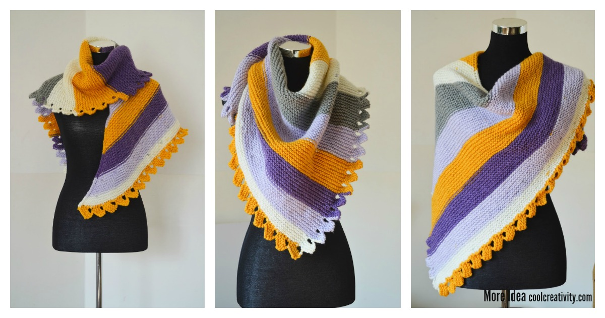 Quick Step Impressive Dragon Tail Shawl Free Knitting Pattern