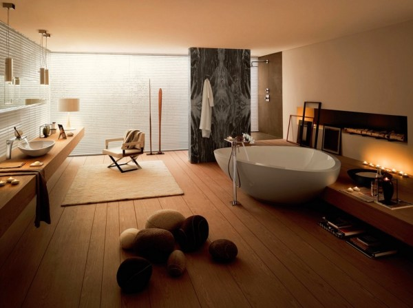 Bathroom with a soft, warm atmosphere