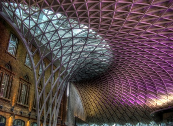 King's Cross station, London. Amazing lattice roof redevelopment