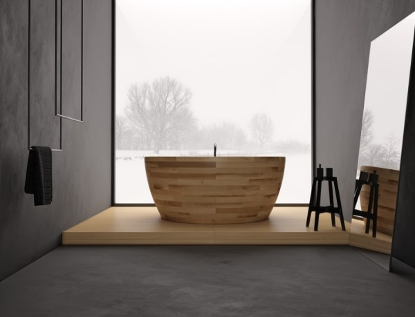 Minimalist bathroom with a view