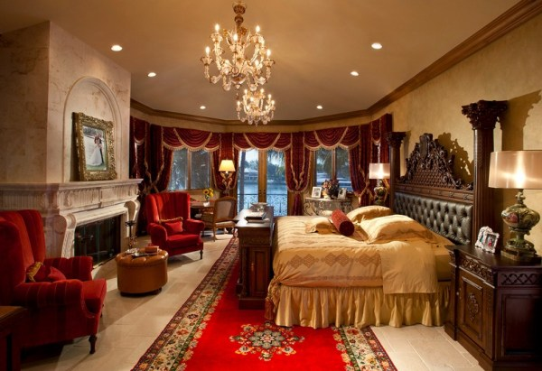 Bedroom at the Versace Mansion