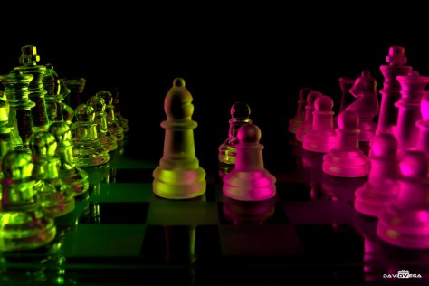 Glass chess neon