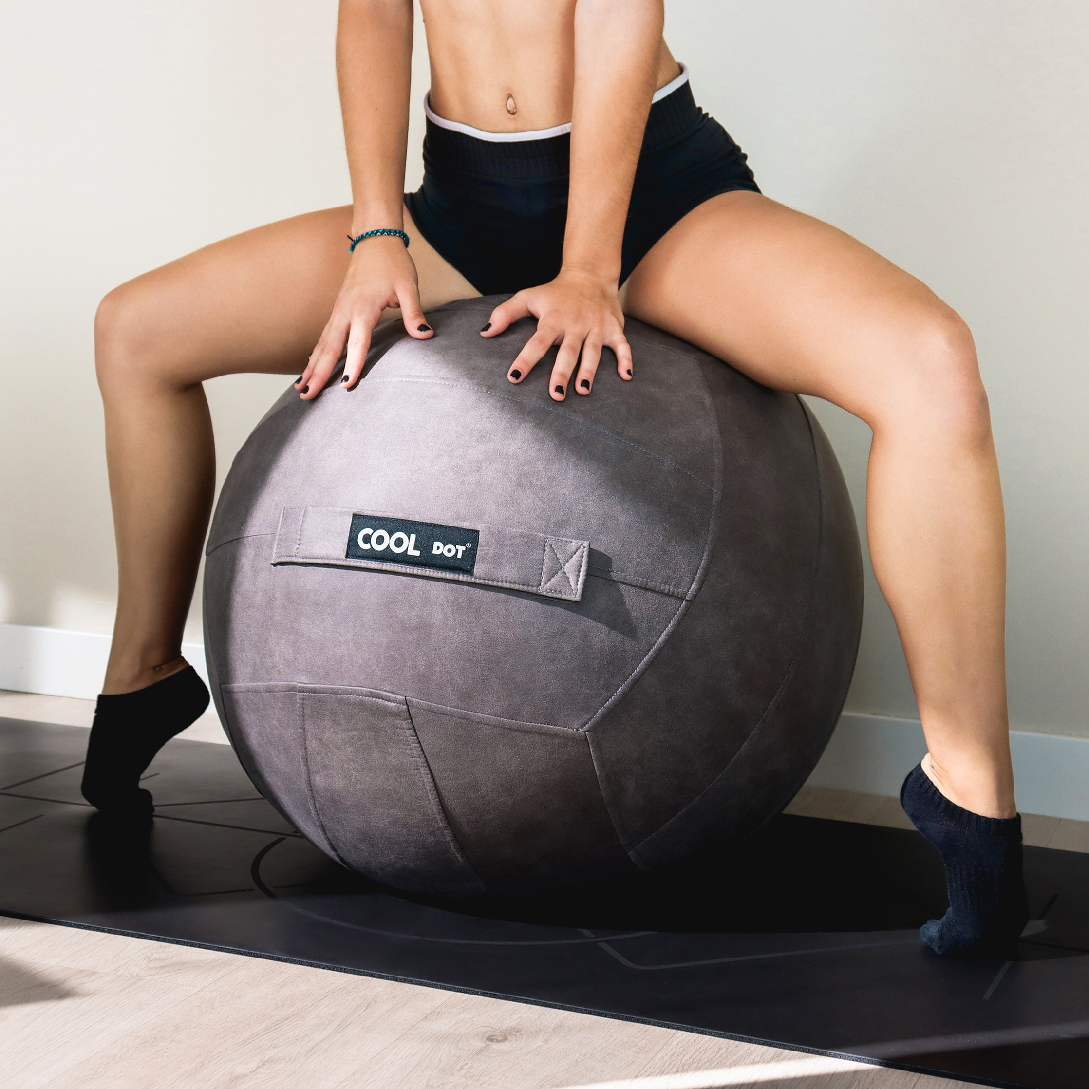 Ball Chair Antibacterial Gray Yoga Sitting Ball Chair - Cooldot Fitness