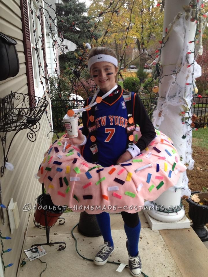 Toddler With Baby Coolest Dunkin Doughnut Costume For A Girl