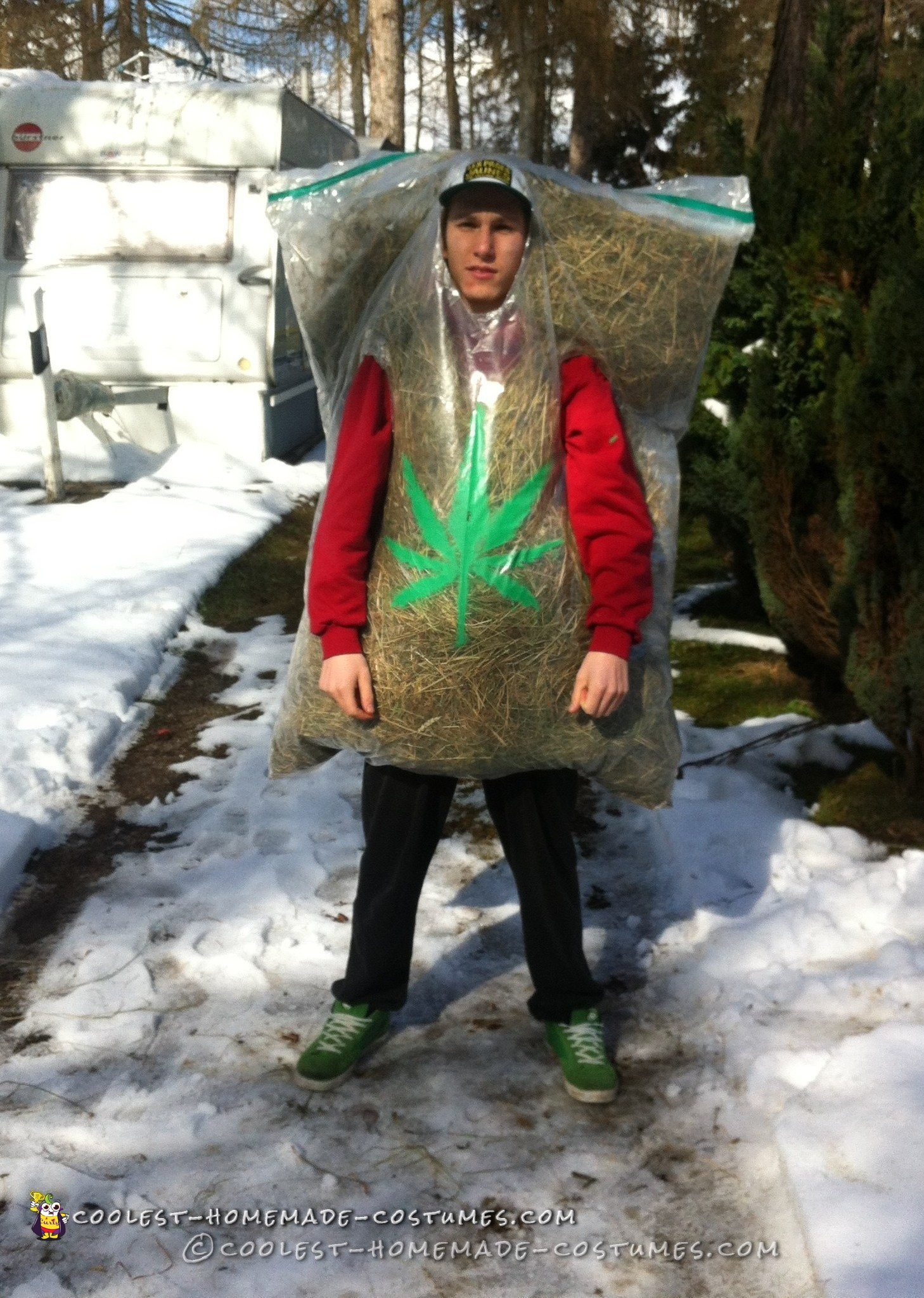 Child Toddler Hilarious Bag Of Weed Costume!