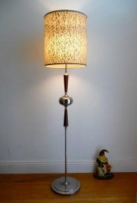 Retro Danish lamp .chrome and teak ..Mid-century Eames ...