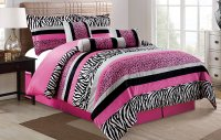 Black And Pink Full Bedding