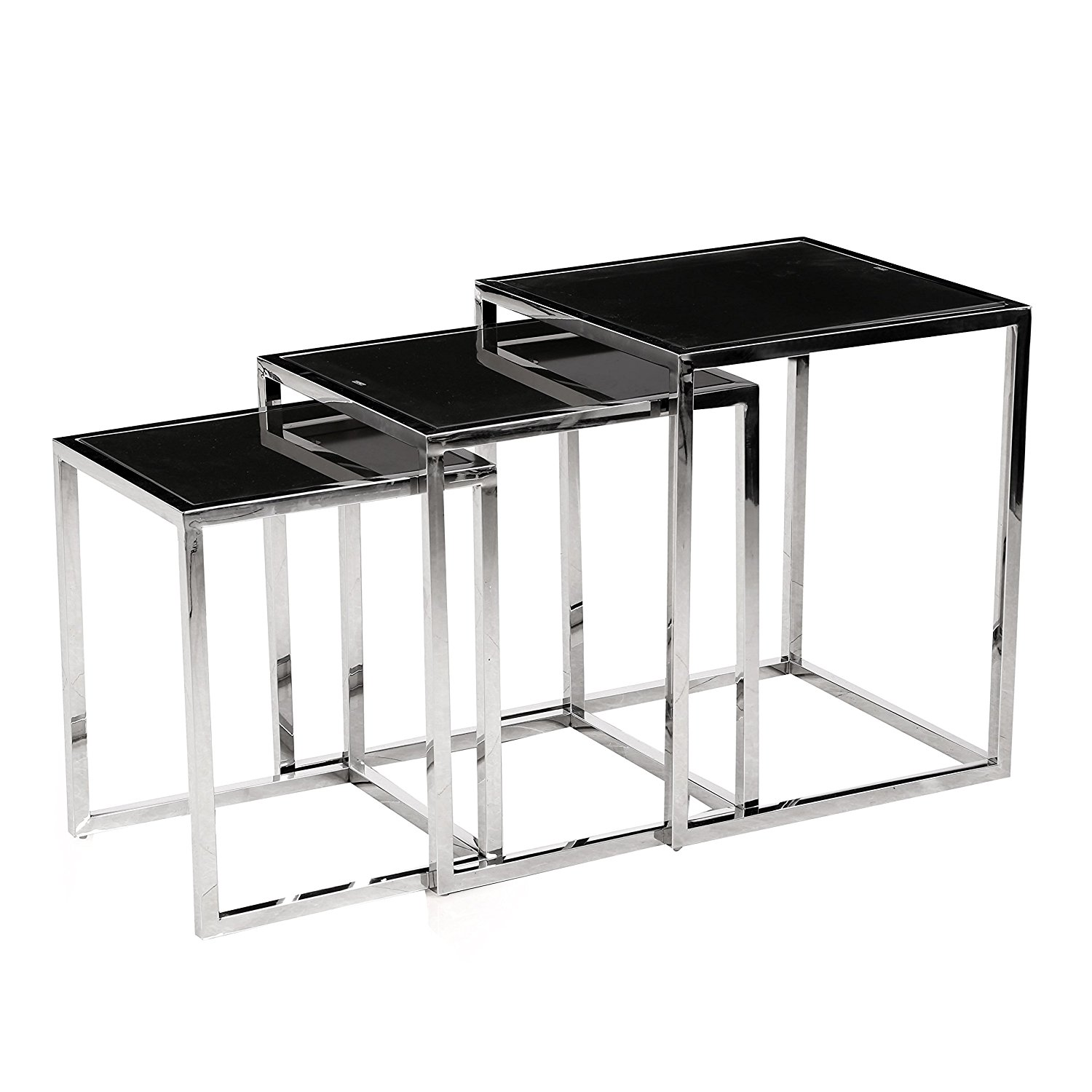 Black Metal Nesting Tables Glass Nesting Table Set Of 3 Find The Best Cool Ideas