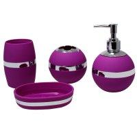 Purple Bathroom Accessories Sets Design | Cool Ideas for Home
