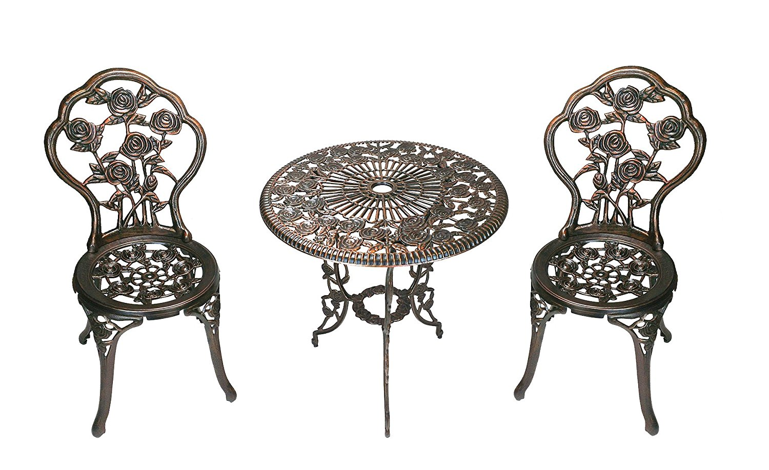 Wrought Iron 3 Piece Outdoor Setting Wrought Iron Patio Furniture For Home Backyard Cool