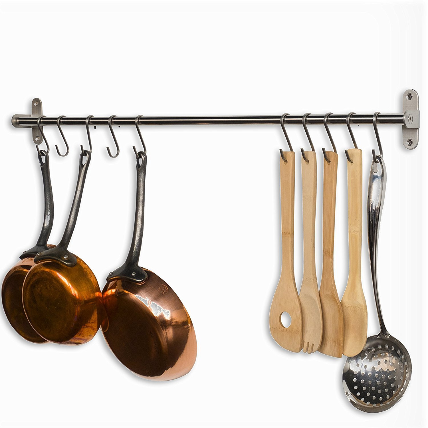 Wall Mounted Pots Wall Mounted Pot Rack For Organized Kitchen Cool Ideas