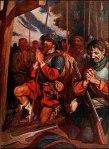 Conquistadors praying before a battle