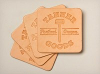 Tanner Goods Leather Drink Coasters | Cool Material