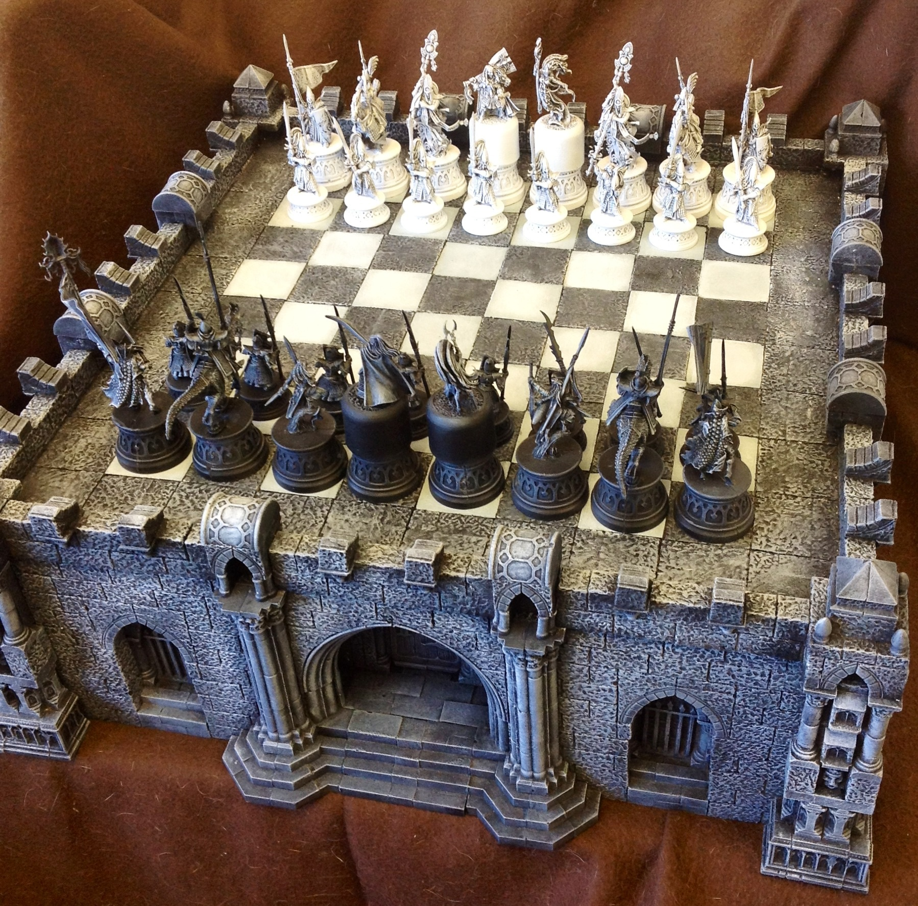 Chest Game Set Coolminiornot Gothic Chess Set By Ojoj