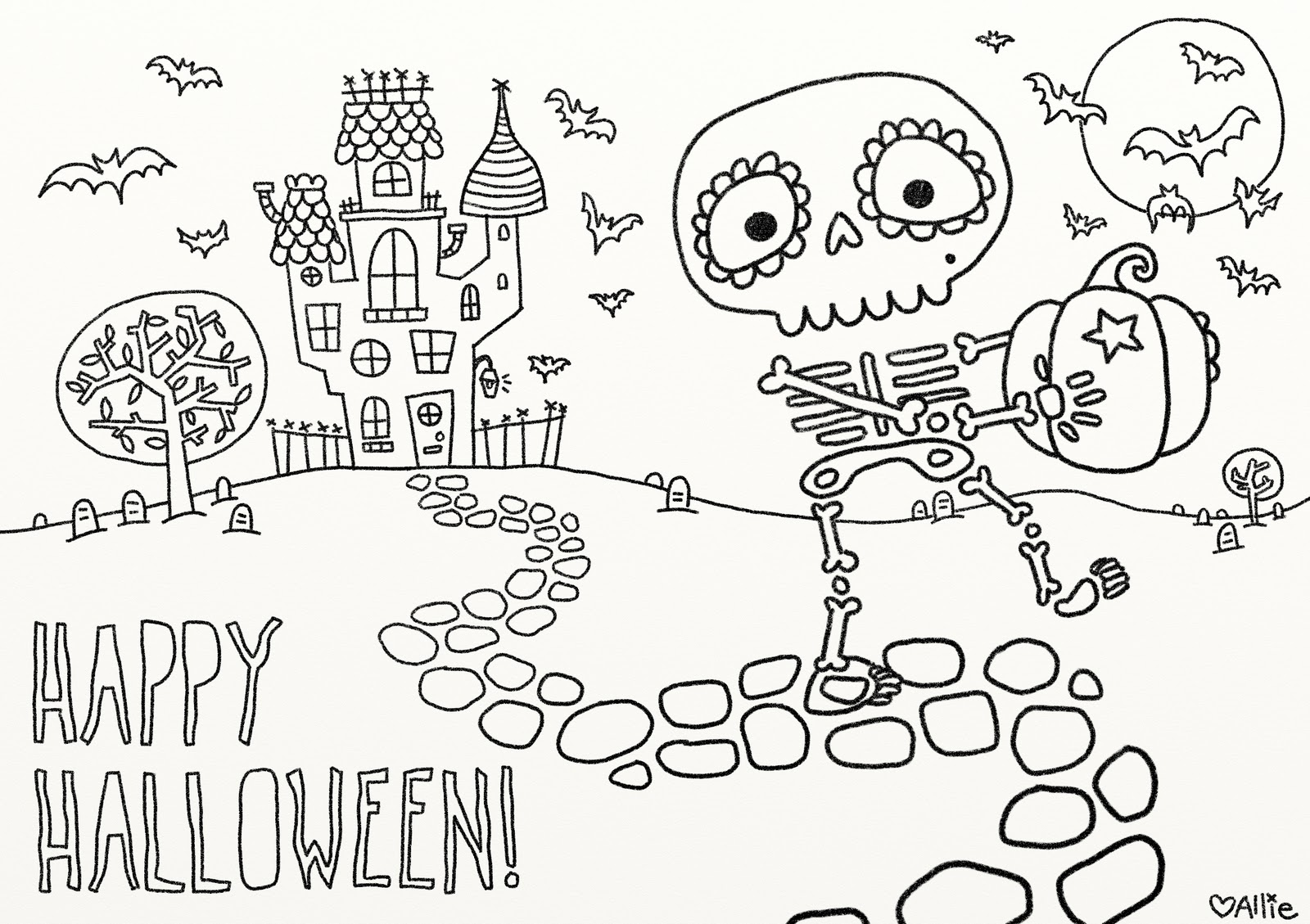 9 fun free printable halloween coloring pages to help keep little fingers out of the candy
