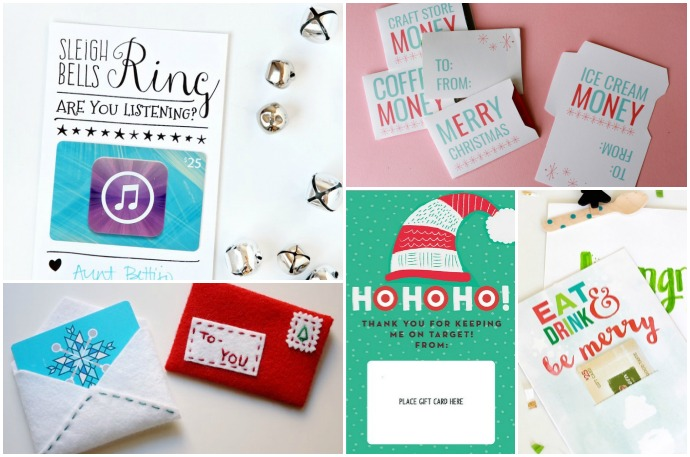 10 DIY + printable gift card holder ideas that make gifts special