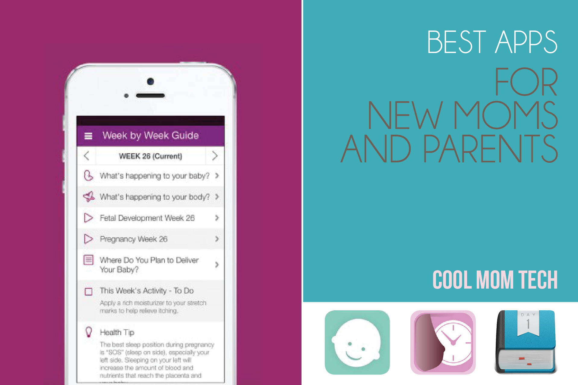 Moms Best 10 Of The Best Apps For New Moms And Parents Cool Mom Tech