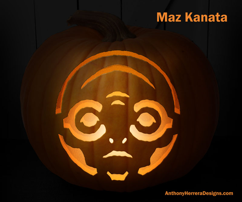 Nearly 100 of the coolest free geeky pumpkin carving templates for