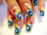 Lady Bug Nail Design - Nail Art Design From CoolNailsArt