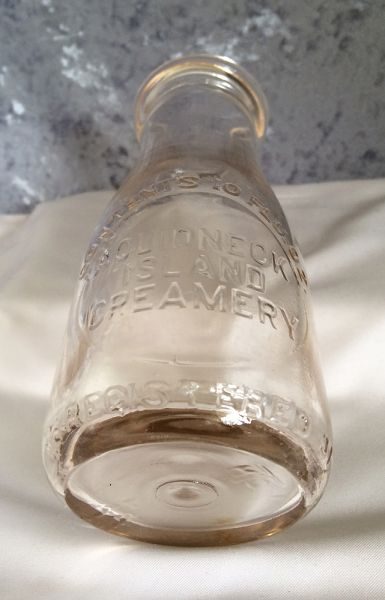 Glass Candle Holders Antique Vintage Aquidneck Island Creamery Rhode Island
