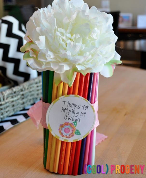 Teacher Appreciation Gift - Colored Pencil Vase on (cool) progeny