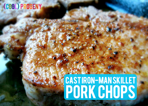 SUPERHERO Cast Iron-Man Skillet Pork Chops - (cool) progeny