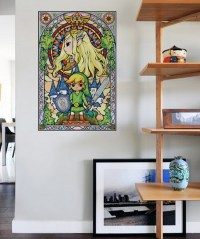 Legend of Zelda Stained Glass Wall Decal | Cool Stuff Dude