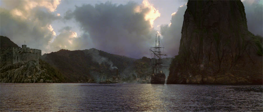Pirates Of The Caribbean 3d Wallpapers Pirates Of The Caribbean Matte Painting Coolvibe