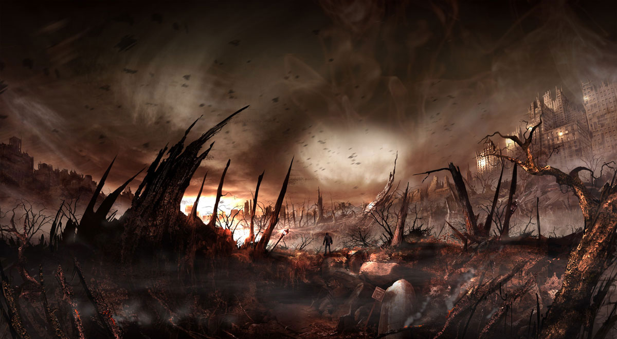 D Hd Wallpapers 1366x768 Concept Art For Alone In The Dark 5 Video Game Digital