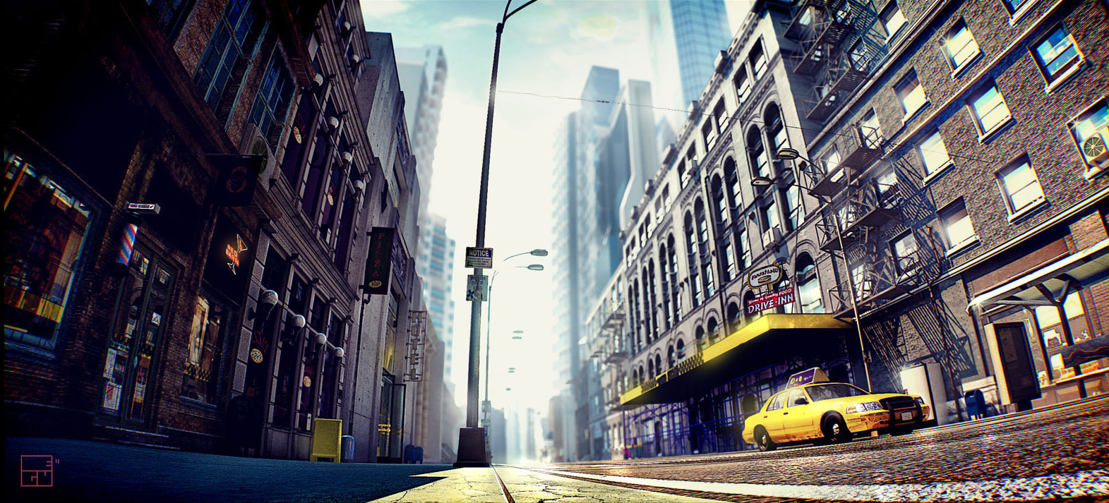 Bing 3d Wallpapers Ny Street Realistic 3d Render 3d Scenery