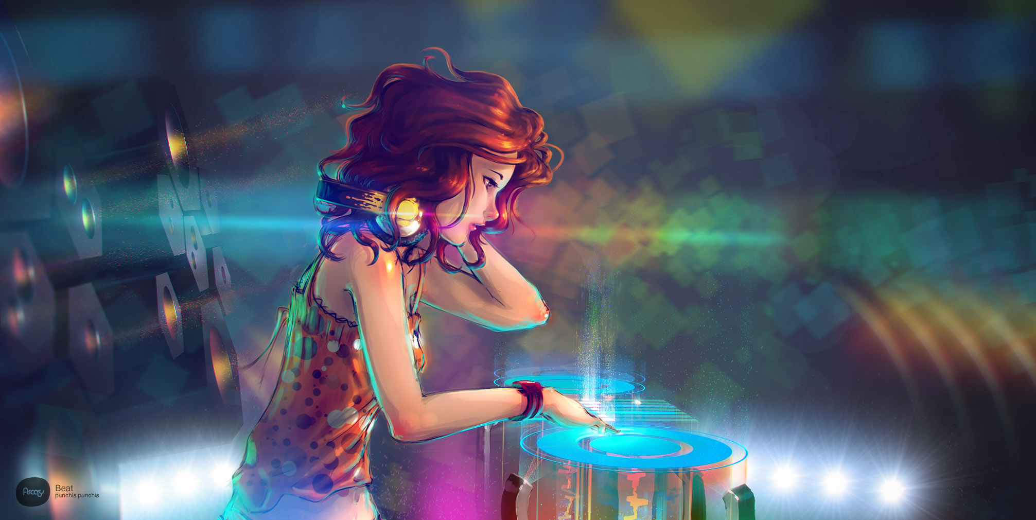 Amazing Wallpaper Girl Headphones Beat Coolvibe Digital Artcoolvibe Digital Art