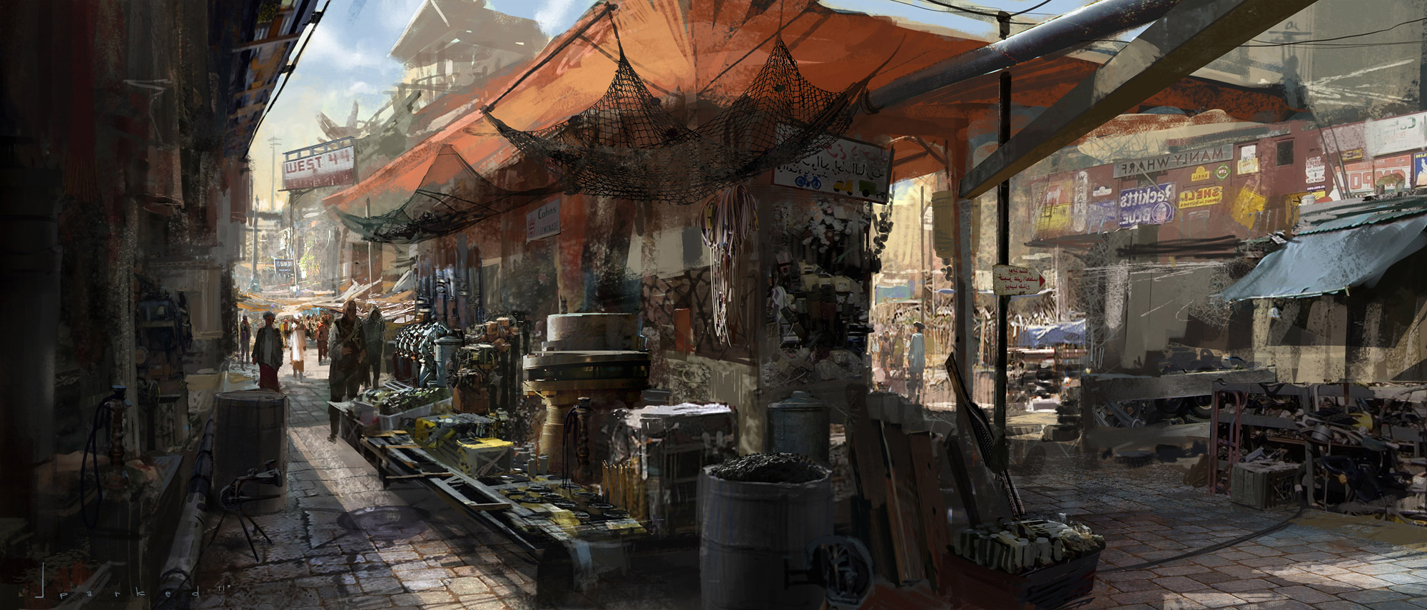 Halo Wallpaper Fall Of Reach Market Place Exterior Digital Paintings