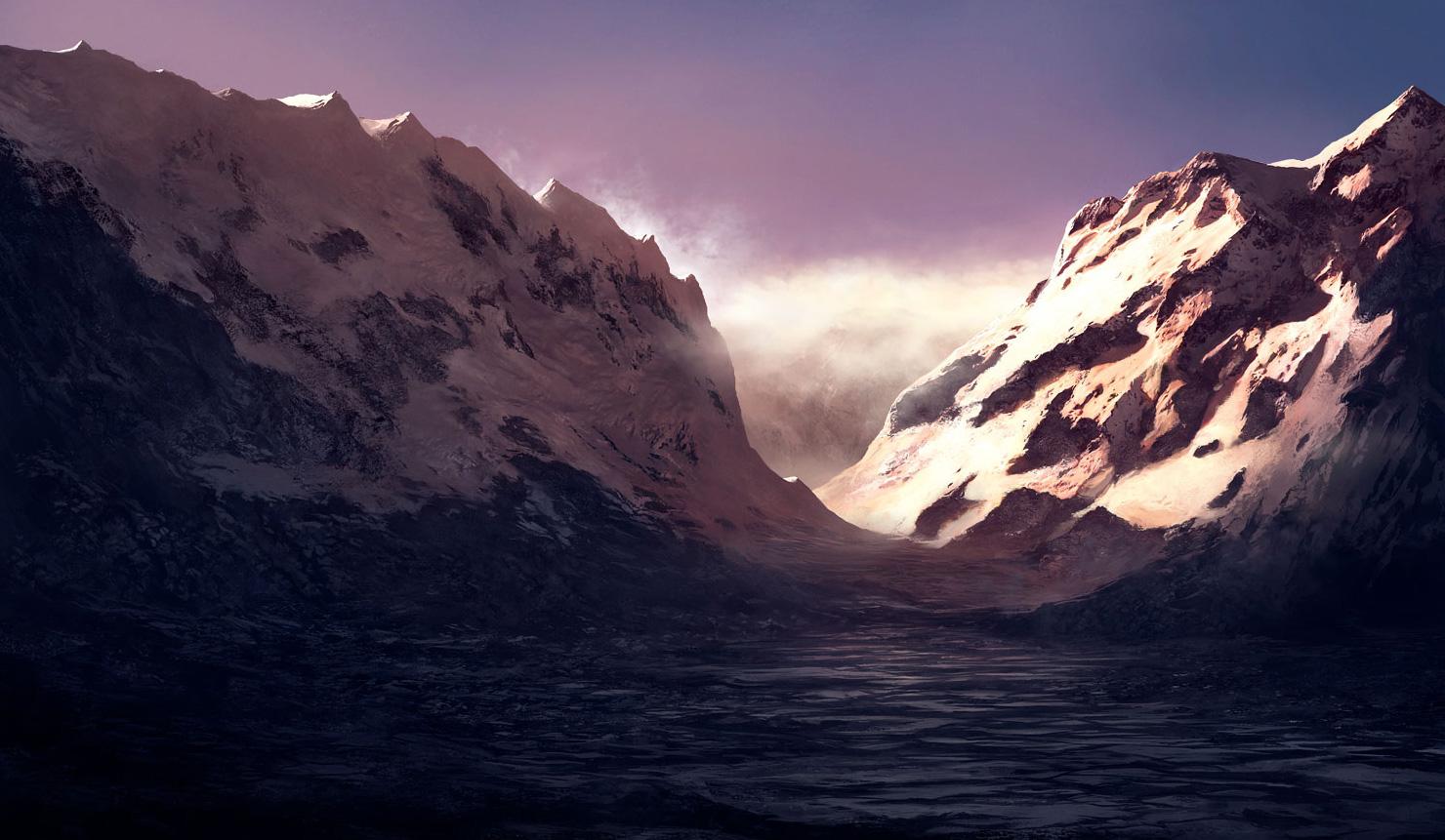 Amazing Wallpapers 3d Snowy Sunrise Coolvibe Digital Artcoolvibe Digital Art