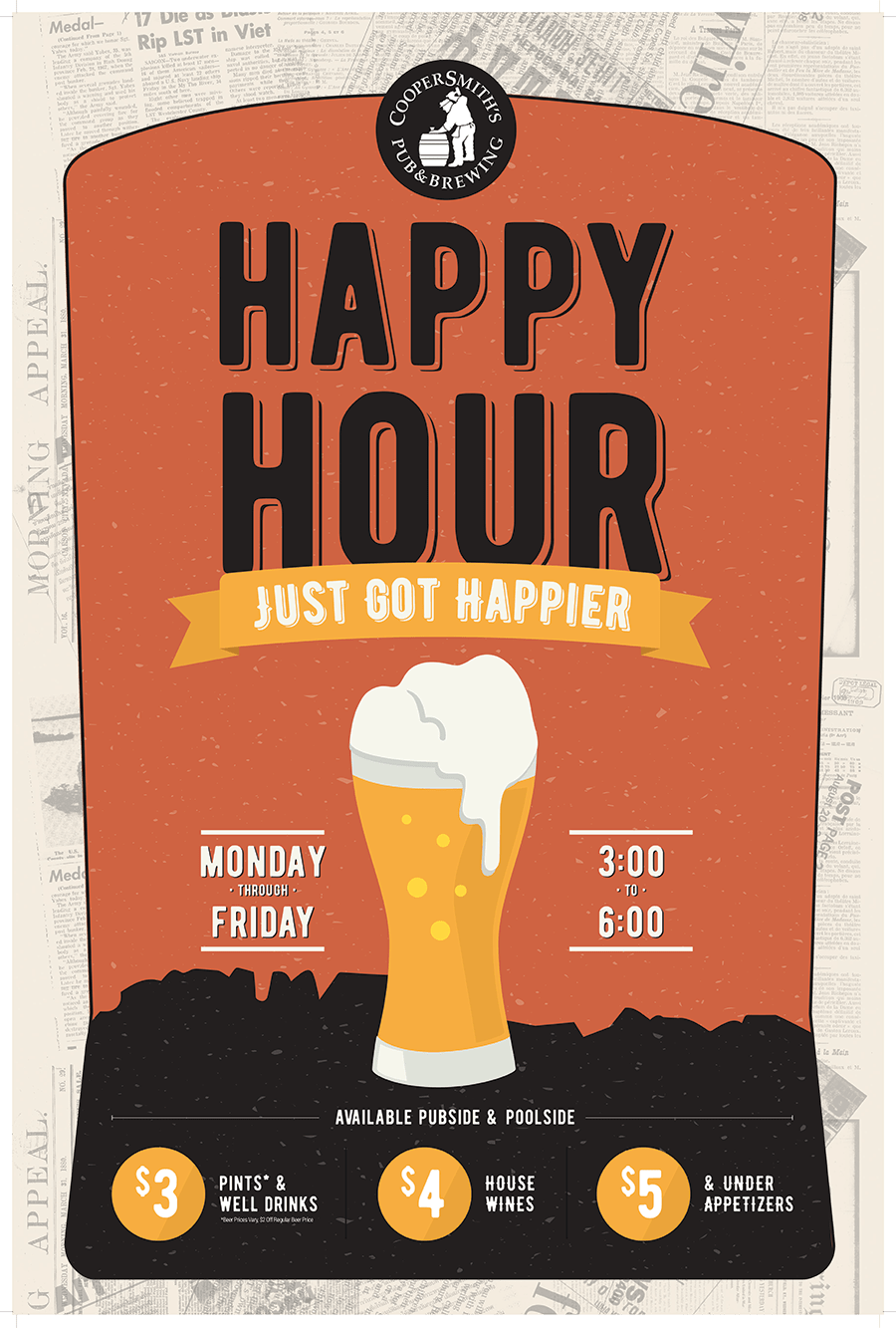 Beer Specials Coopersmith S Announces New Happy Hour Specials Coopersmith S