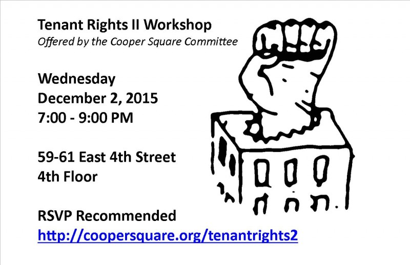 Cooper Square Committee Working to preserve and develop affordable