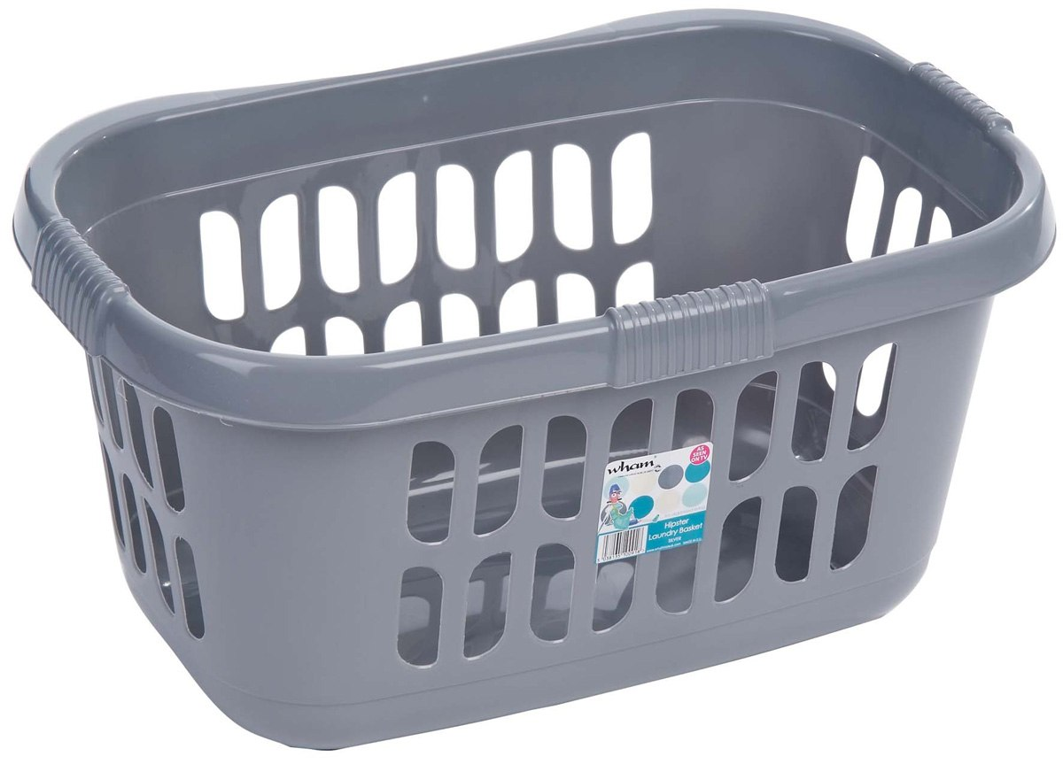Wash Basket Wham Hipster Laundry Basket Silver