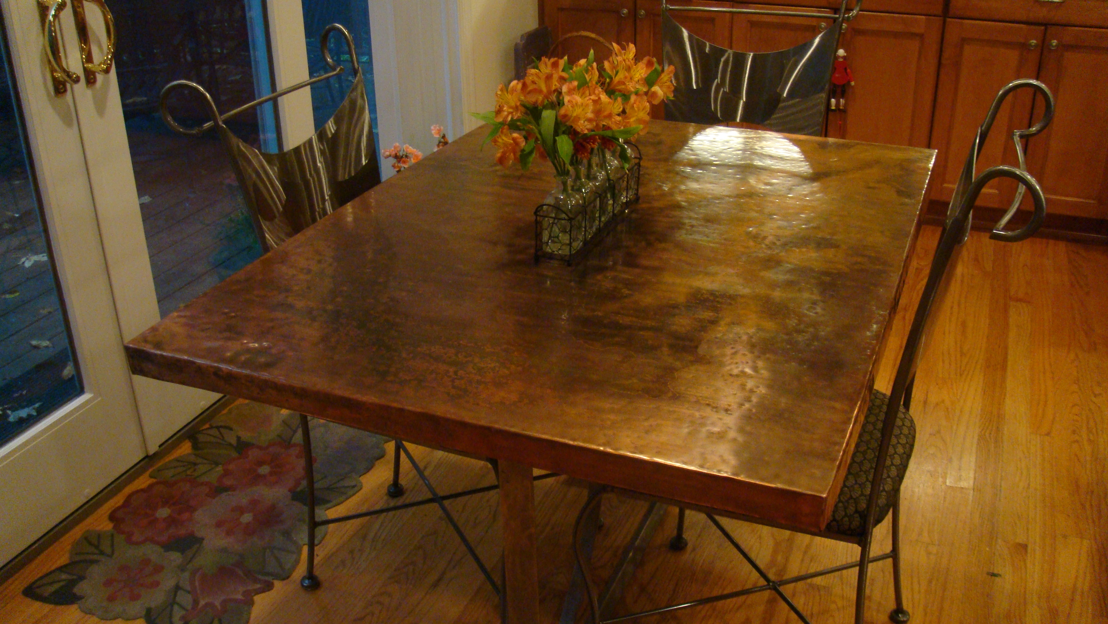 imagine copper kitchen table - Kitchen Table Top