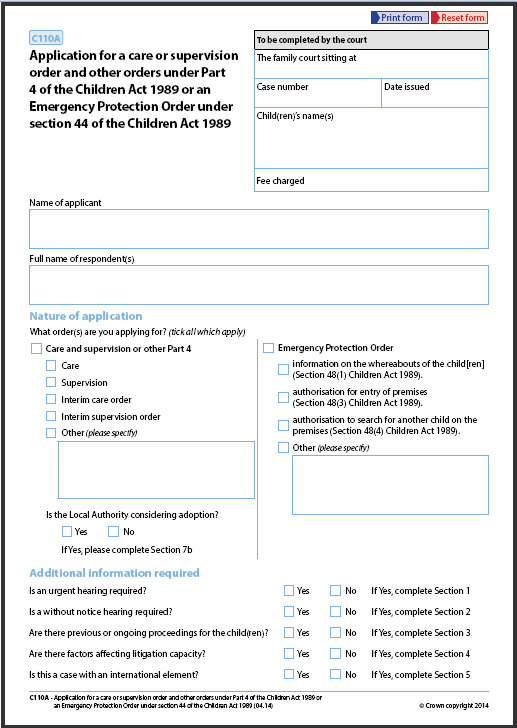 Social work evidence template Court orders and pre-proceedings