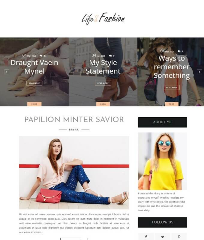 Blogger Templates 2018 Free Download - fashion blogger templates