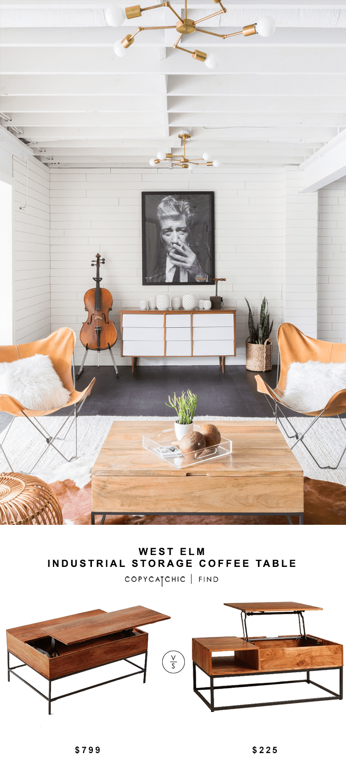 Couchtisch Industrial Diy West Elm Industrial Storage Coffee Table - Copycatchic