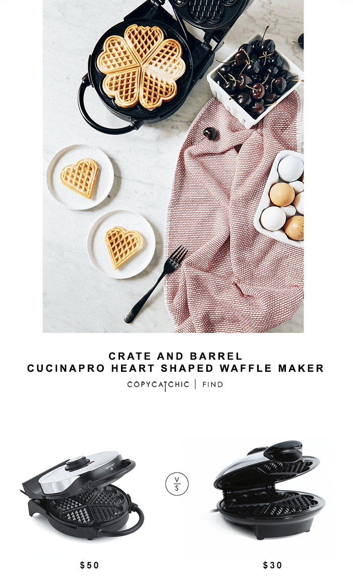 Cucinapro Waffle Crate And Barrel Cucinapro Heart Shaped Waffle Maker Copycatchic