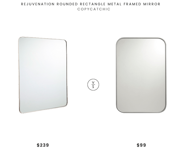 Rejuvenation Lighting Fixtures Daily Find | Rejuvenation Rounded Rectangle Metal Framed