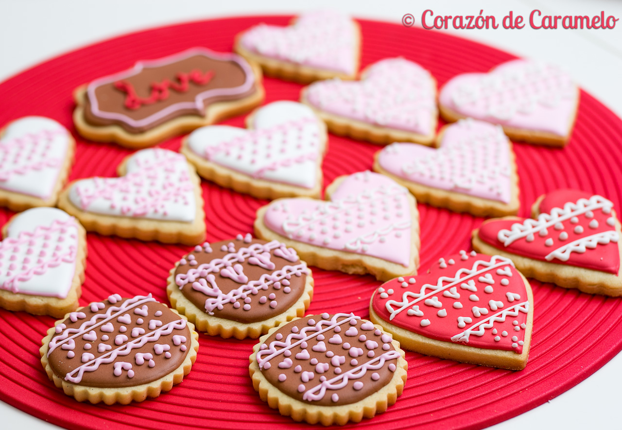 Galletas De Corazon Decoradas Galletas Decoradas Y Receta De La Masa