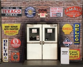 Faux Wall with Automobilia Theme