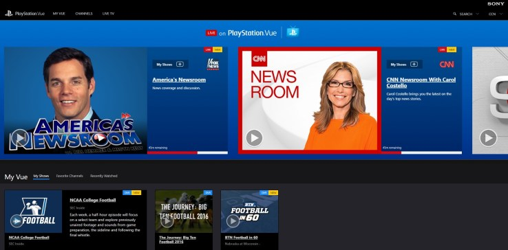 Playstation vue is now available in your web browser cord cutters