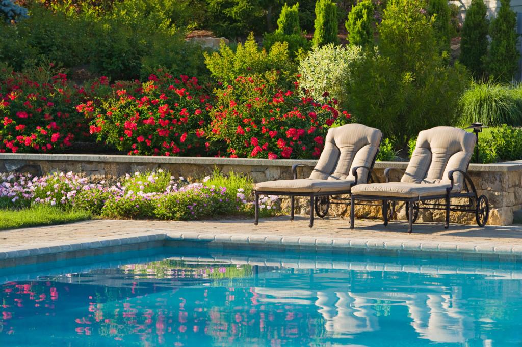 formal pool and landscape design