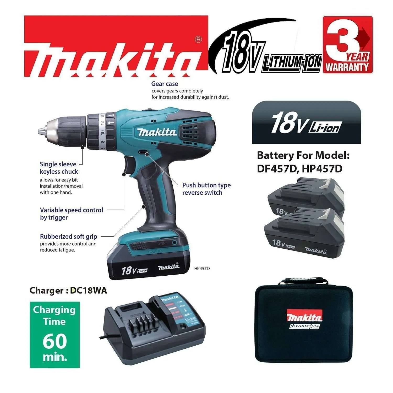 Makita Accuboor Set Best Makita Cordless Drill Drivers Reviews Uk 2018 Top